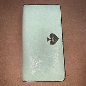 Used Kate Spade Mint Bifold Wallet